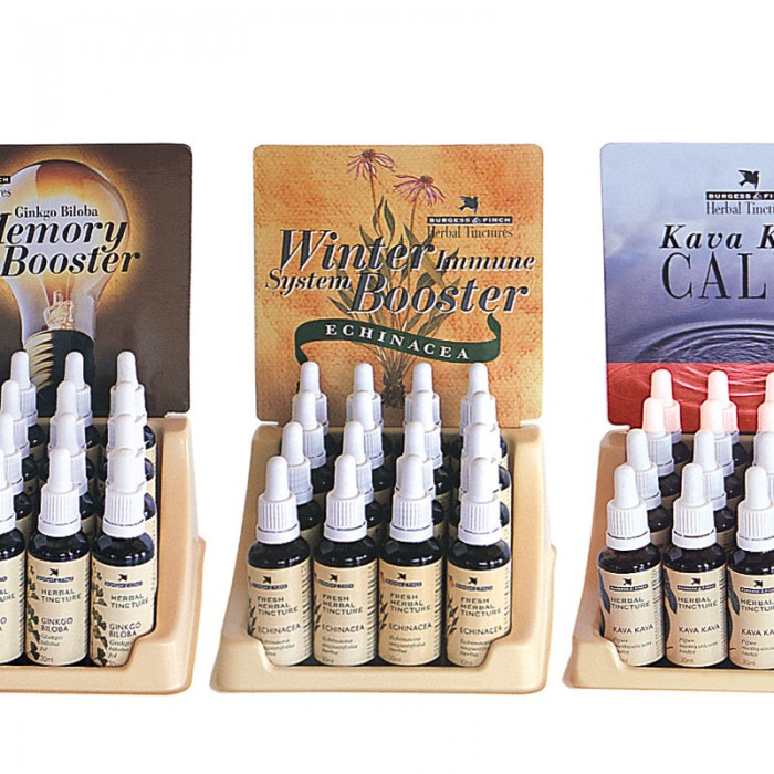 Burgess & Finch Herbals display stands