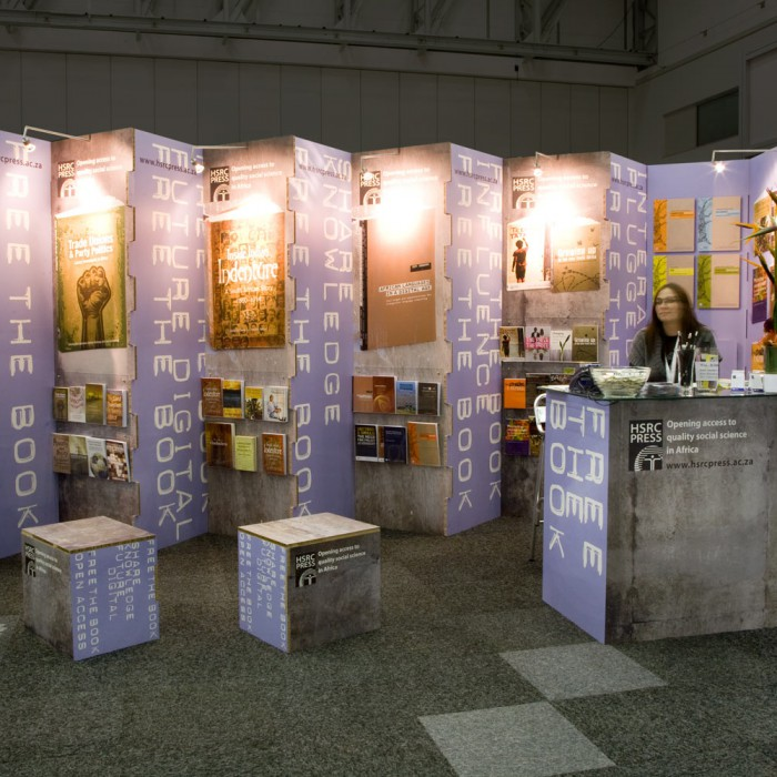 Exhibition stand for HSRC Press