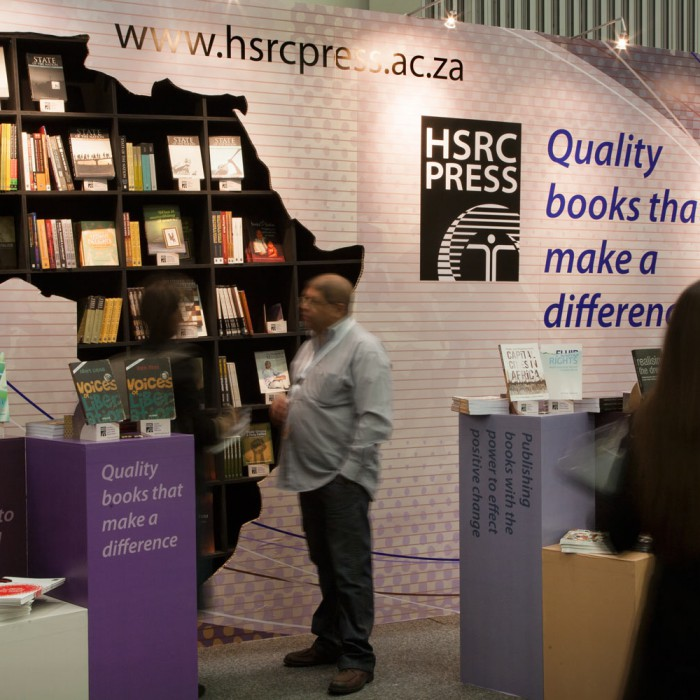 HSRC Press stand at Cape Town book fair