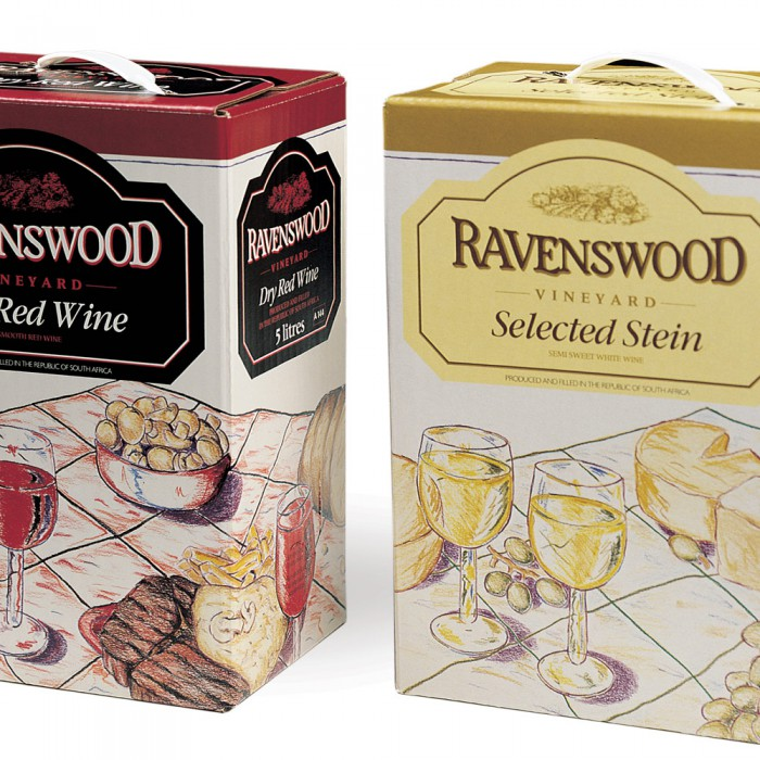 Ravenswood 5-litre wine packaging