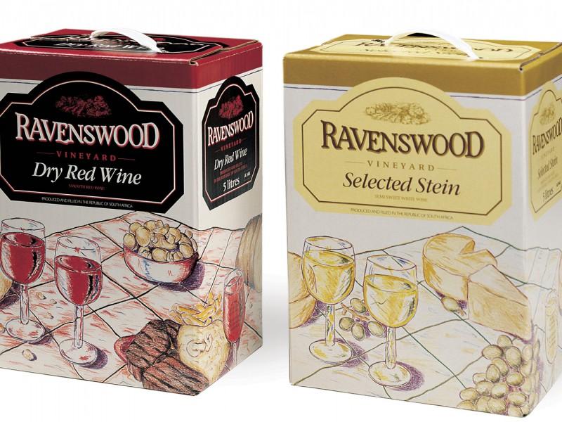 Ravenswood 5-litre wine packaging
