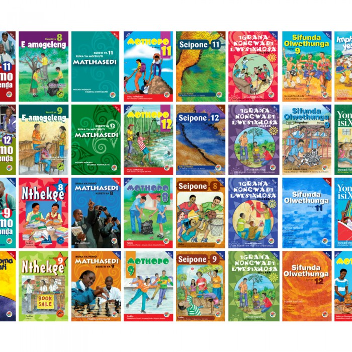 School text books in eight languages